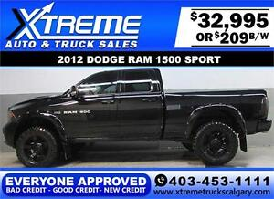 2012 DODGE RAM SPORT LIFTED *EVERYONE APPROVED* $0 DOWN $209/BW!