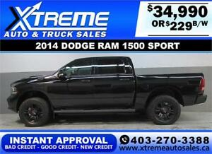2014 DODGE RAM SPORT LIFTED *INSTANT APPROVAL* $0 DOWN $229/B