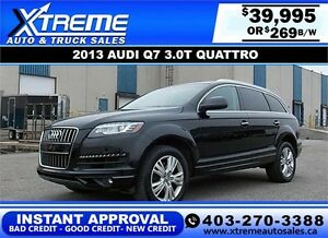 2013 Audi Q7 3.0T QUATTRO $269 bi-weekly APPLY NOW DRIVE NOW
