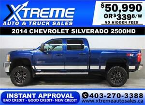 2014 CHEVROLET DIESEL LIFTED *INSTANT APPROVAL* $339/BW!