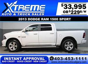 2013 DODGE RAM SPORT CREW *INSTANT APPROVAL* $0 DOWN $229/BW!