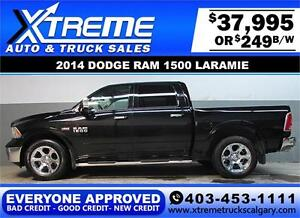 2014 DODGE RAM LARAMIE CREW *EVERYONE APPROVED* $0 DOWN $249/BW!