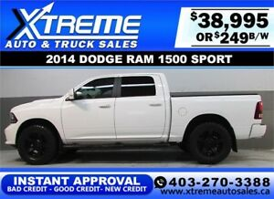 2014 DODGE RAM SPORT LIFTED *INSTANT APPROVAL* $0 DOWN $249/BW!