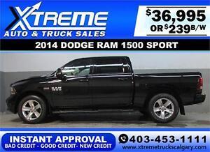 2014 DODGE RAM SPORT CREW *INSTANT APPROVAL* $0 DOWN $239/BW!