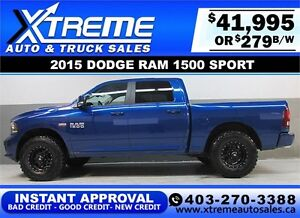 2015 DODGE RAM SPORT LIFTED *INSTANT APPROVAL* $0 DOWN $279/BW!