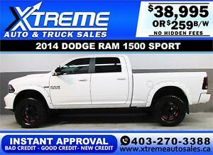 2014 DODGE RAM SPORT LIFTED *INSTANT APPROVAL* $0 DOWN $259/BW