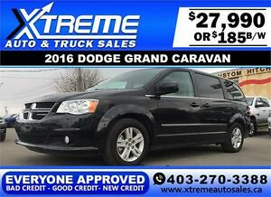 2016 Dodge Grand Caravan $185 bi-weekly APPLY NOW DRIVE NOW