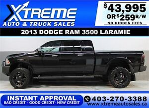 2013 RAM 3500 LARAMIE LIFTED *INSTANT APPROVED* $0 DOWN $259/BW!