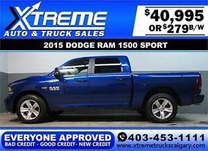 2015 DODGE RAM SPORT CREW *EVERYONE APPROVED* $0 DOWN $279/BW!