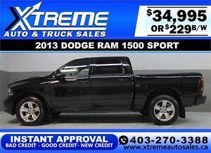 2013 DODGE RAM SPORT CREW **INSTANT APPROVAL** $0 DOWN $229/BW!