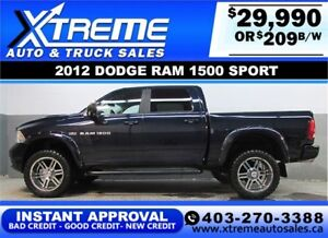 2012 DODGE RAM SPORT LIFTED *INSTANT APPROVAL* $0 DOWN $209/BW!
