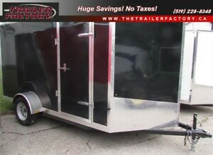 New Cargo Trailer 6'x12' V-Nose Black, Financing Available