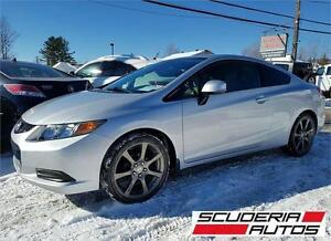 Honda Civic EX Coupe 2012, Bas Km, Mags HFP, Impeccable !