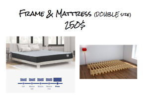 Double Size Mattress and Frame - LIKE NEW