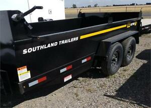 NEW 2018 SOUTHLAND 7X14 DUMP TRAILER 2X7000LB AXLES CLEAROUT
