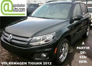 2012 Volkswagen Tiguan Trendline, À PARTIR DE 65$/SEM.100% APPRO