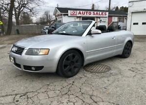 2003 Audi A4 Certified/Convertible/Automatic/Leather/Bluetooth