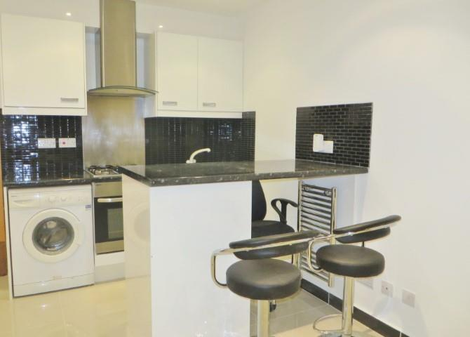 Large self contained studio inc council tax , water rates w14