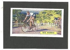 VINTAGE-56-YEAR-ORIGINAL-1957-REG-HARRIS-CARD-CYCLING-SPORTS-RECORDS-BIKE-RACING