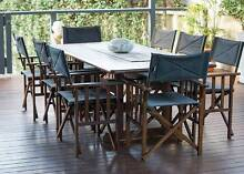 Timber s2dio Outdoor Table and 8 Directors Chairs Beaconsfield Fremantle Area Preview