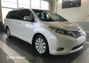 2015 Toyota Sienna Limited, 7 Pass, All Wheel Drive, DVD,