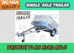 ✧✩✰7x5 Galvanised Trailers With 600mm Cage✧✩✰Single Axle