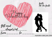 Dancing classes gift card valentine's day