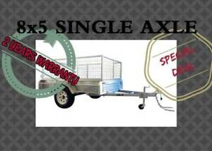 8x5 SINGLE AXLE GALVANISED BOX TRAILER CLEARANCE SALE