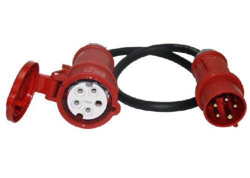 CEE Starkstrom Adapter Stecker und Kupplung 16A 16A 5x2,5mm MRS 32A oder 32A