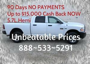 2012 Ram 2500 HD 4x4  5.7L Hemi ~ New Tires ~ Tow Pkg $226 B/W