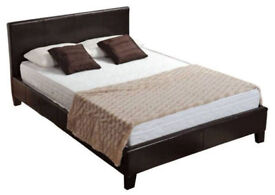 NEW QUALITY Leather bedframe 4ft6 & MATTRESS DEAL