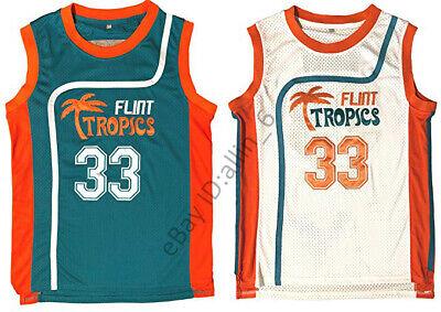 Jackie Moon #33 Flint Tropics Semi Pro Movie Men's Basketball Jersey Stitched  - Jackie Moon Semi Pro