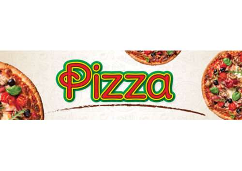 "Winco EDM-2PZS, 5-3/4"" x 16-1/8"" Pizza Sign for EDM-2"