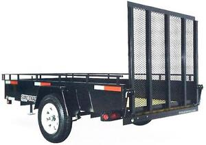 7X12 Landscape Steel Highside Trailer