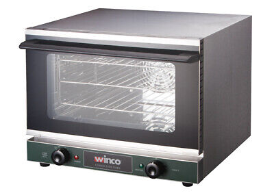 New Commercial Electric Convection Oven Half Size Winco Eco-500 120v