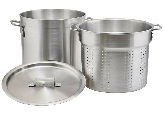 Winco ALDB-12S, 12-Quart Aluminum Steamer Set