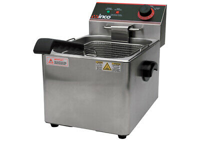 Winco Countertop Commerical Deep Fryer Single Well 16 Lbs Oil Capacity Efs-16