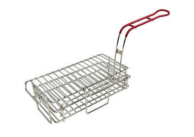 "Winco FB-03 11-1/2"" x 6"" x 3-7/8"" Chimichanga/Burrito Fry Basket"