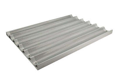 Winco Abp-6l 18x26-inch 6 Slot Long Aluminum Baguette Pan Nsf