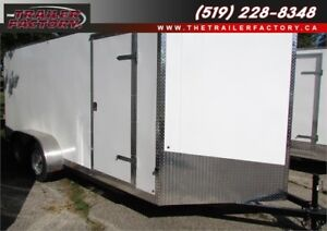 New Cargo Trailer 7'x16' V-Nose White, Financing Available