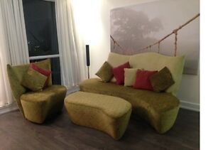 3 Pieces Modern furniture in Velour Fabric