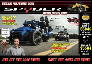 CAN-AM SPYDER DEMO DAYS MAY 25-26 2018