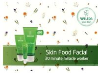 FREE Facials using Weleda products