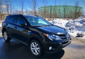 2015 Toyota RAV-4 4x4 AWD Limited Blk Cuire Mags Toit Air GPS XM