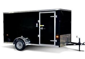 6X12 V-Nose Cargo Trailer - X Package w/Barn Doors