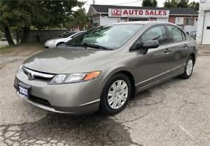 2007 Honda Civic Certified/Automatic/Accident Free/Gas Saver