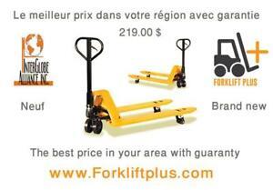 Transpalette manuel (Jigger) - Hand pallet truck (pallet jack)