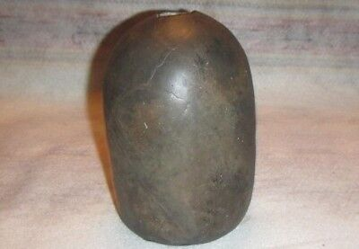 Ancient Native American Indian Pottery Sw Ar Black Caddo Seed Jar  Broken Glued