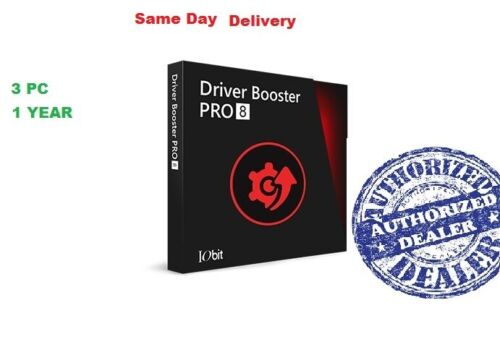 Driver Booster 8 PRO | 3 PC - 1 YEAR LICENSE. Fast Delivery.