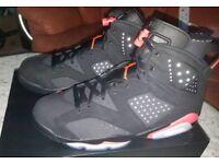 Nike Air Jordan 6 infrared retro 9 UK/10 US